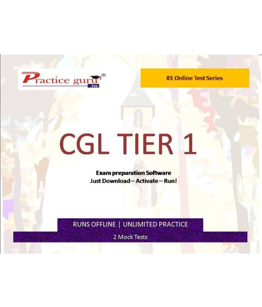 Practice Guru (CGL TIER 1)2 Online Mock Tests License/Redemption Code - Online