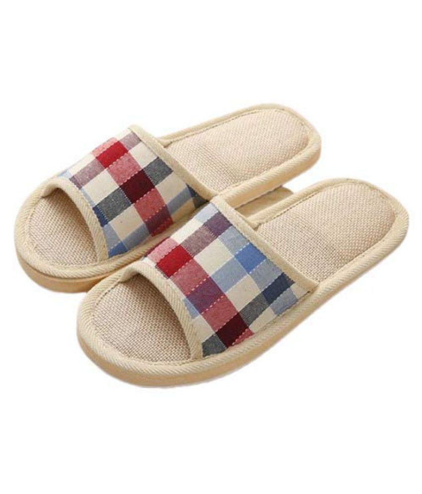 DRUNKEN Maroon Slippers