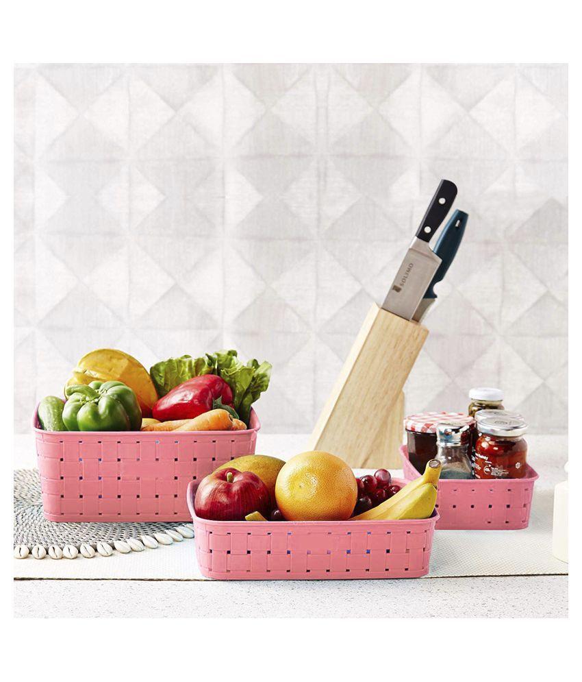 N M CREATION Polypropelene Fruit Basket 1 Pcs