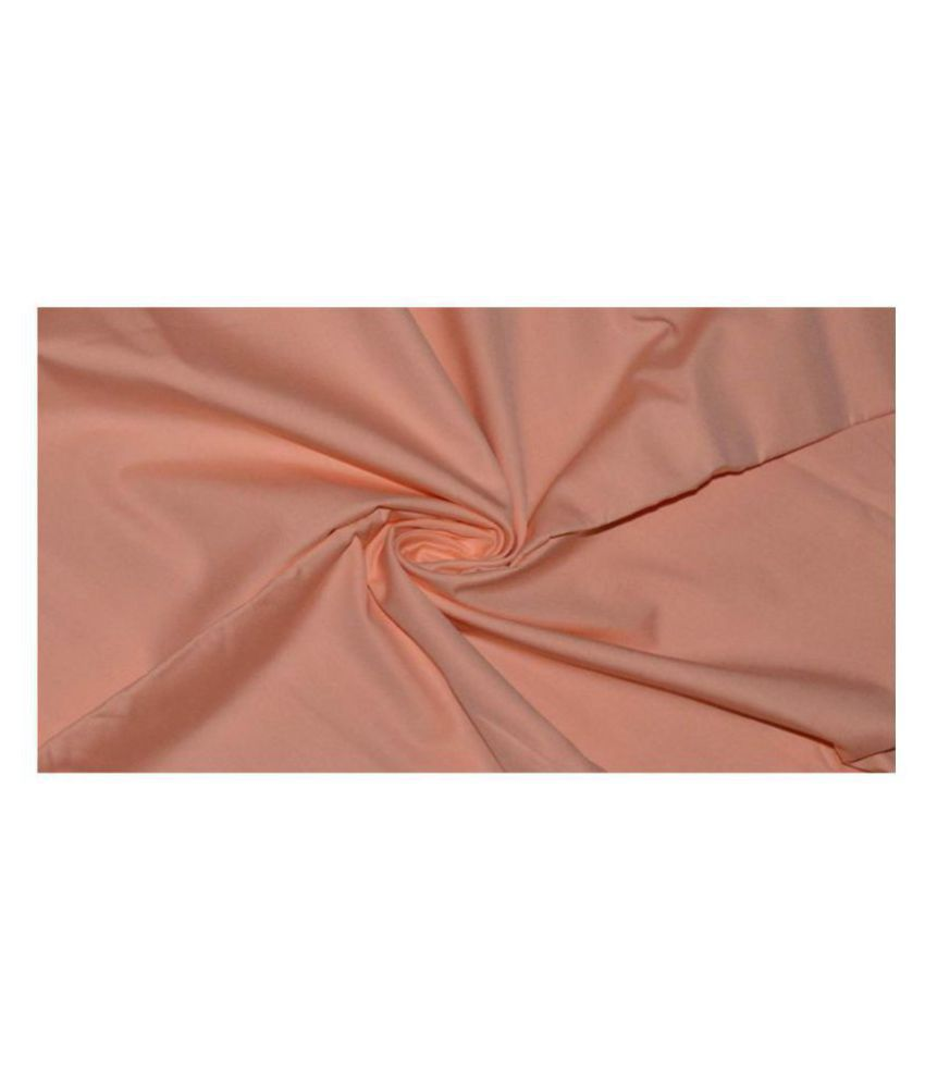 Makhanchor Peach Linen Unstitched Shirt pc Single