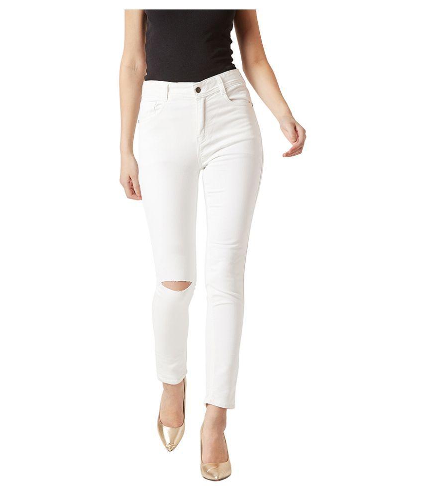 Dolce Crudo Denim Jeans - White