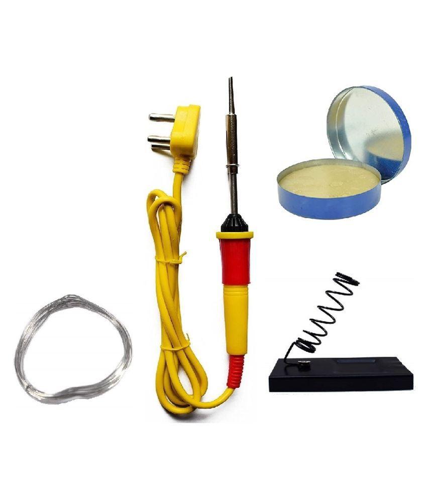 UKOIT (4 in 1) High Quality 25W Soldering Kit including Soldering Iron, Soldering Wire(1.5m), Flux and Iron Stand