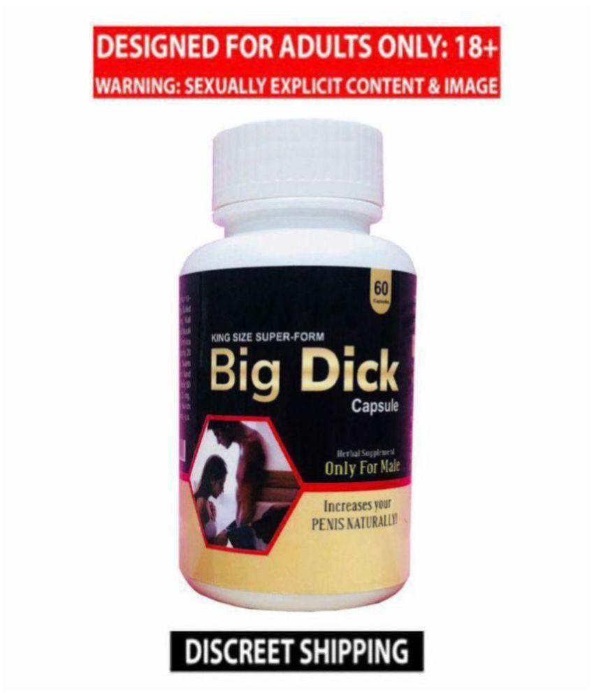 Ayurvedic Big Dick ( Penis Enlargement 60 capsules Pack For Men), Increase Your Penis NATURALLY. ( 100% Safe Product )