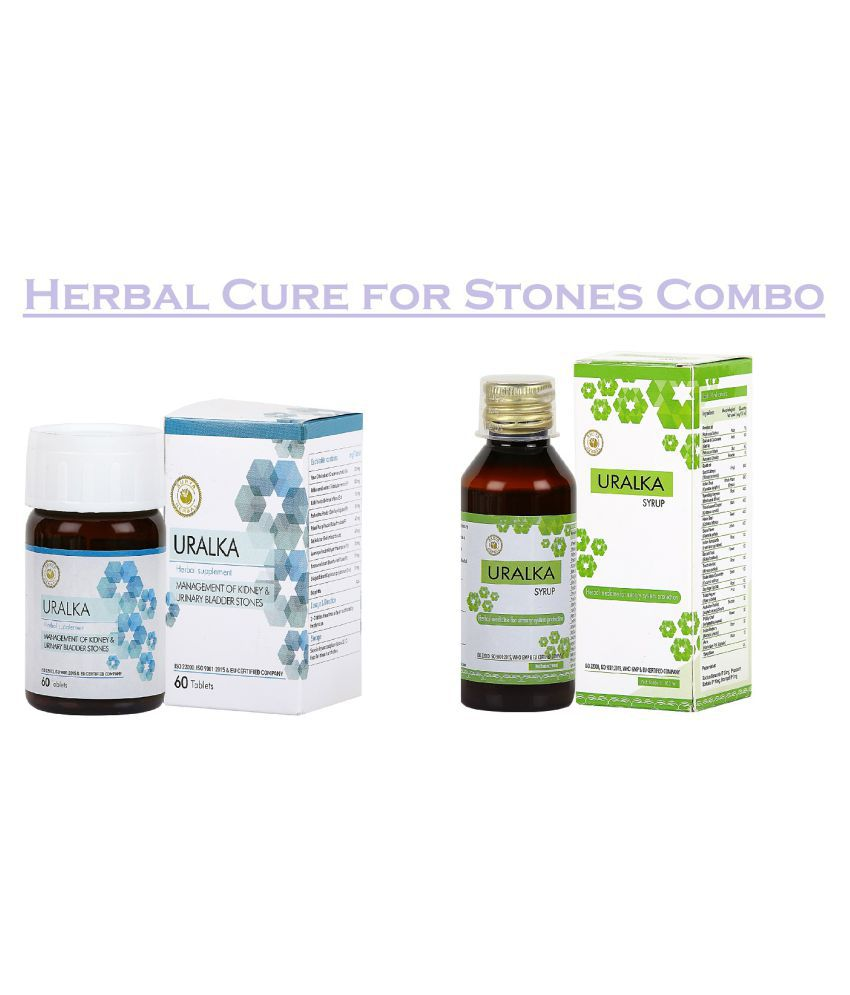 HerbRoot Cure 4 Stones Combo-Uralka Syrup 100ml & Tablet 60 no.s