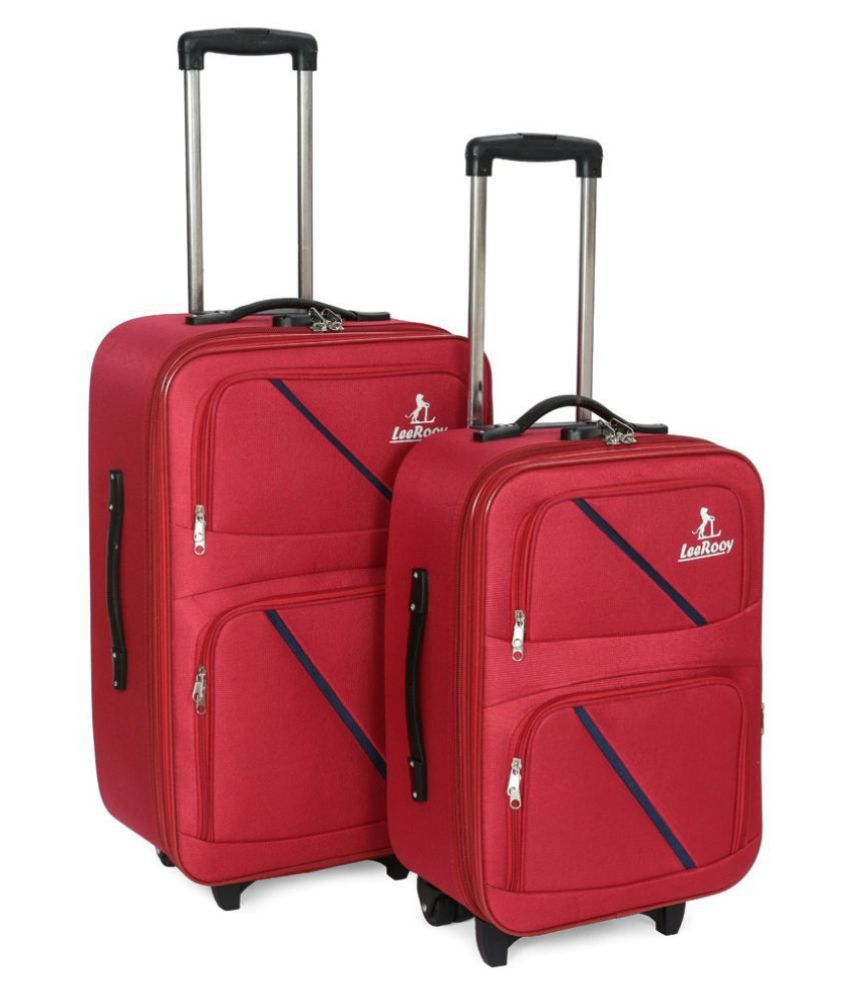LeeRooy Red Synthetic Trolley Backpack