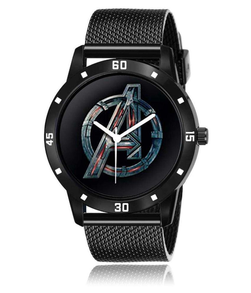 Watchocity WINPESO AVENGERS BLACK Leather Analog Men's Watch