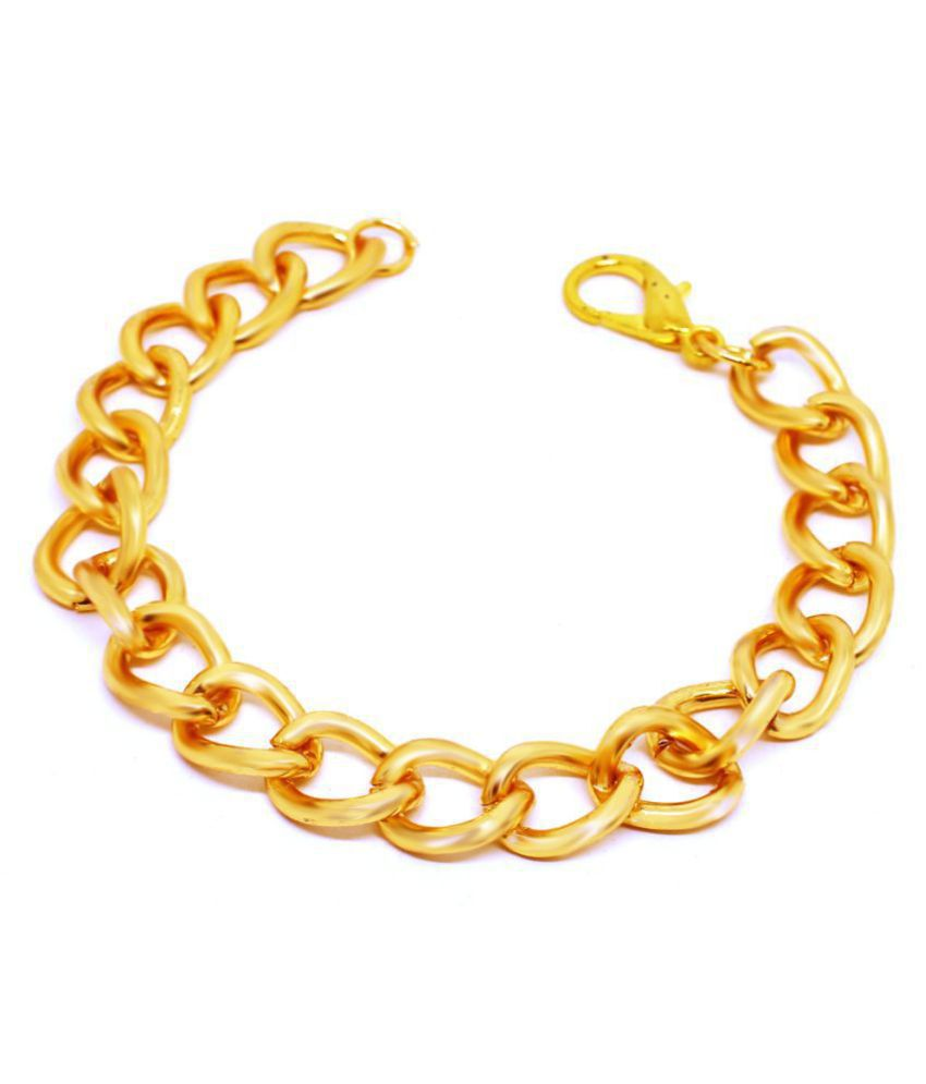 Golden Men's Thick and Heavy Link Chain Bracelet Real Look by GoldNera.