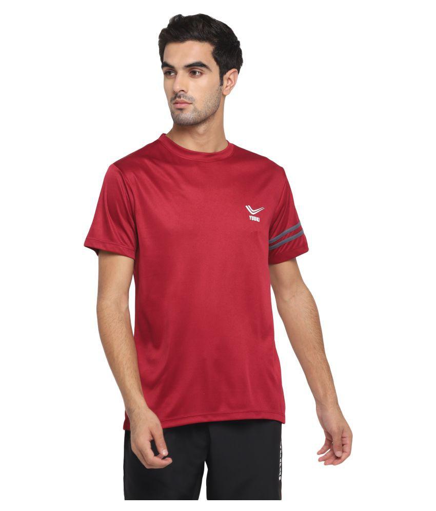 YUUKI Red Polyester T-Shirt
