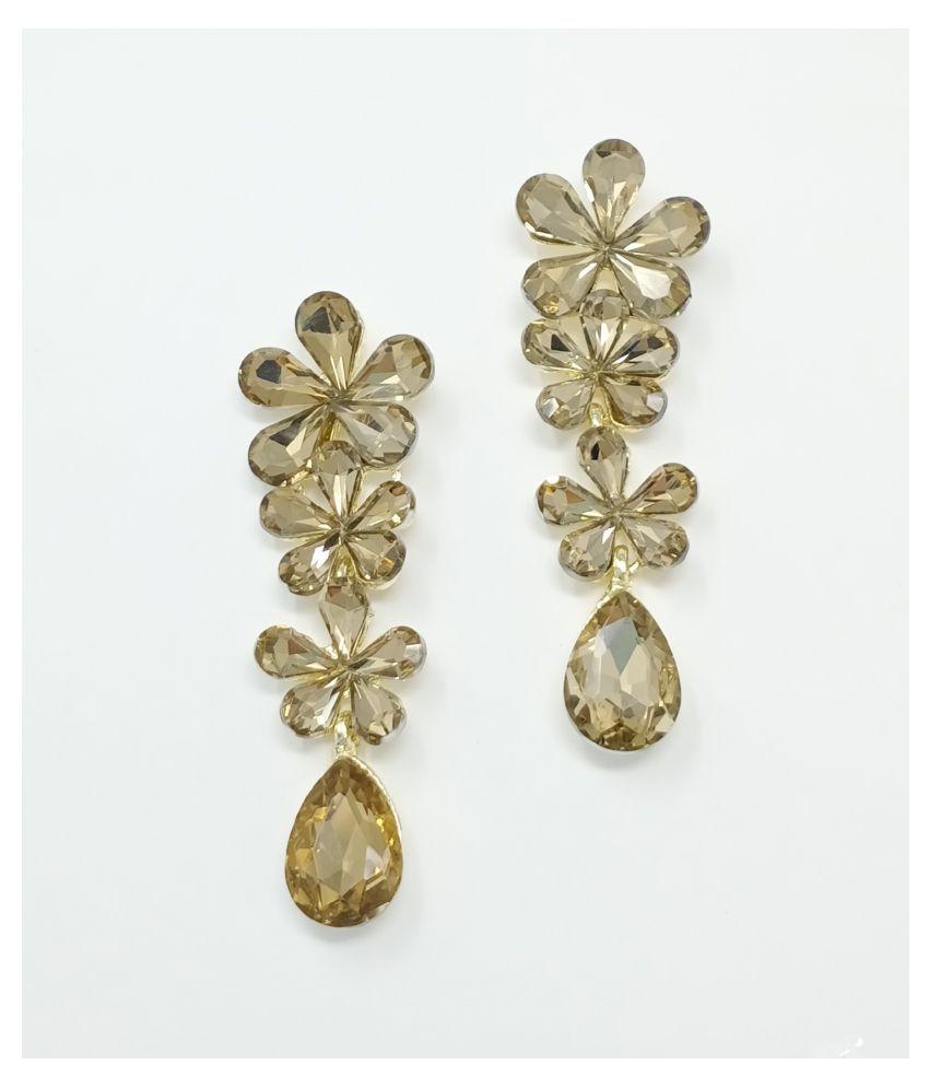 Jaishree Jewels Golden Copper Fancy Earings for Women and Girls