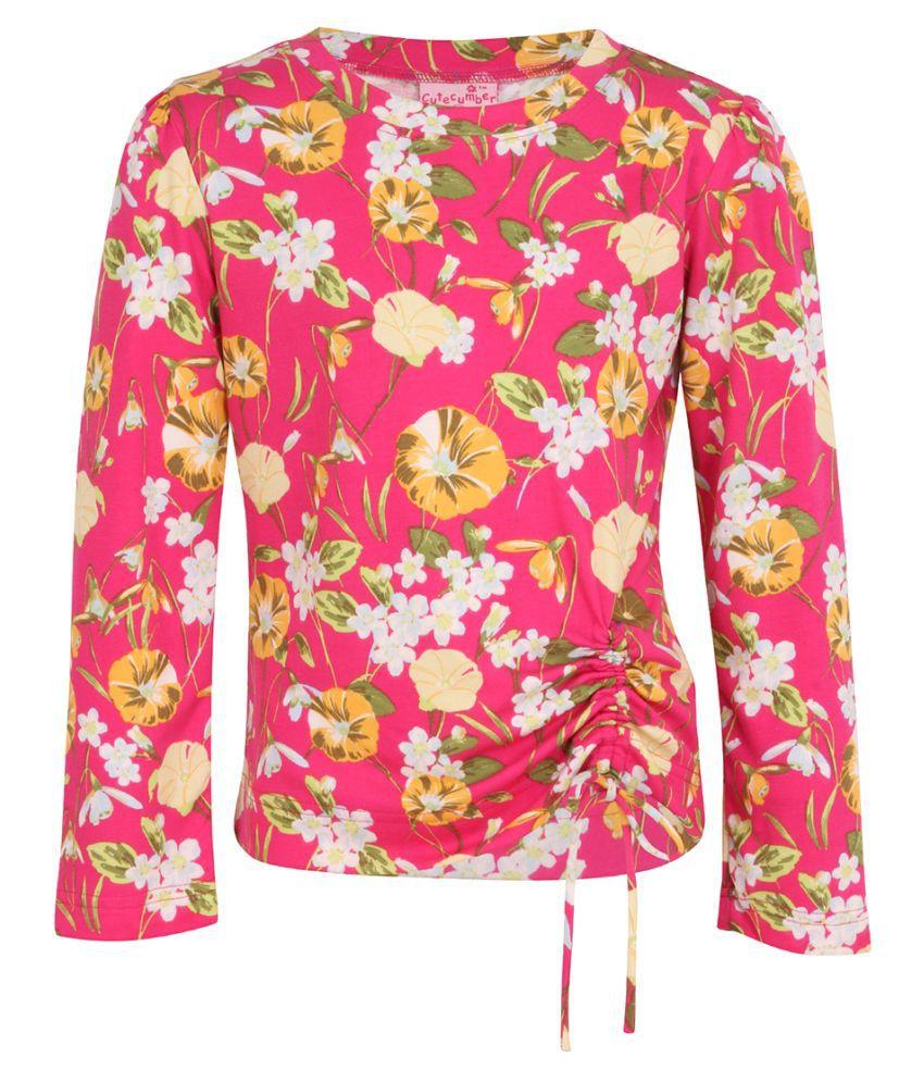 Smart Casual Floral Printed Full Sleeves Top,