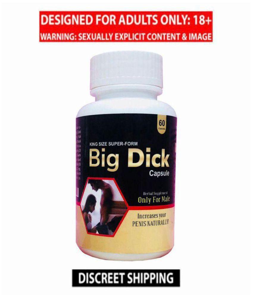 Big Dick Herbal Capsule 60 no.s & Tiger XXL African Size Enlargement Cream Combo Kamveda