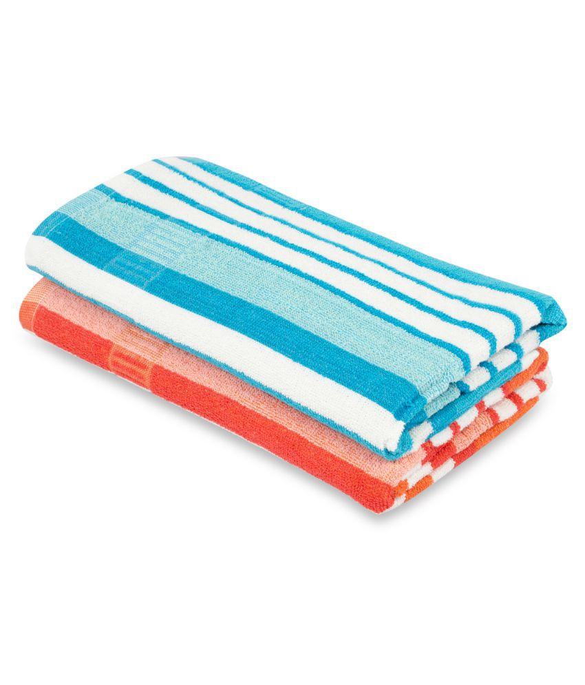 NFI essentials Set of 2 Cotton Bath Towel Assorted