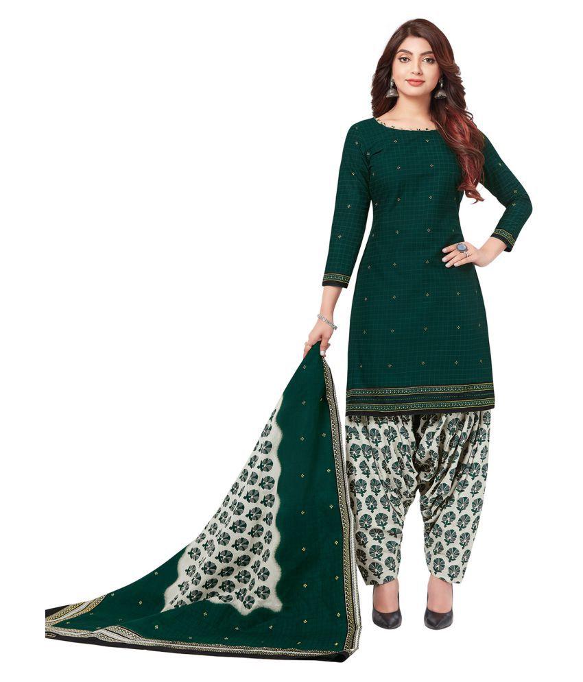 Salwar Studio Cotton Kurti With Patiala - Stitched Suit