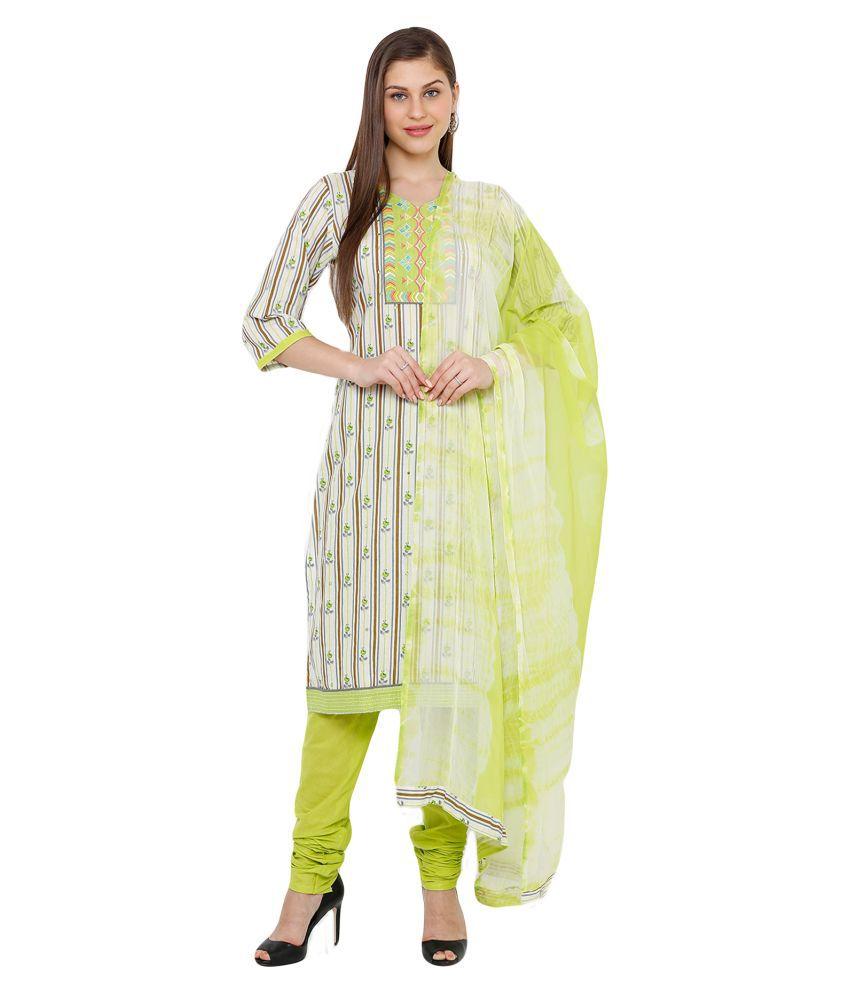 Salwar Studio Cotton Kurti With Churidar - Stitched Suit