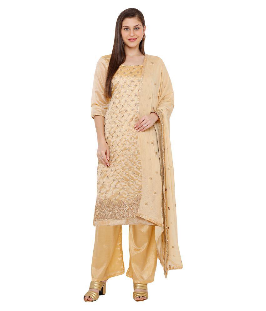 Salwar Studio Cotton Silk Kurti With Palazzo - Stitched Suit