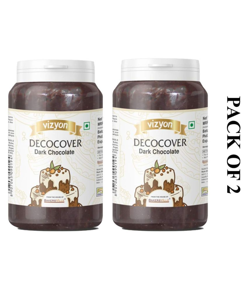 Vizyon Decocover  Dark Chocolate 200 g Pack of 2