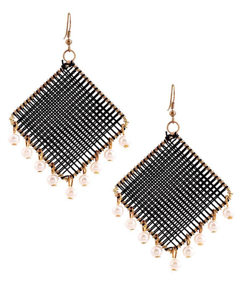 Stylish GB Squire Black Earring (Daily Wear) For Girsl/Boys