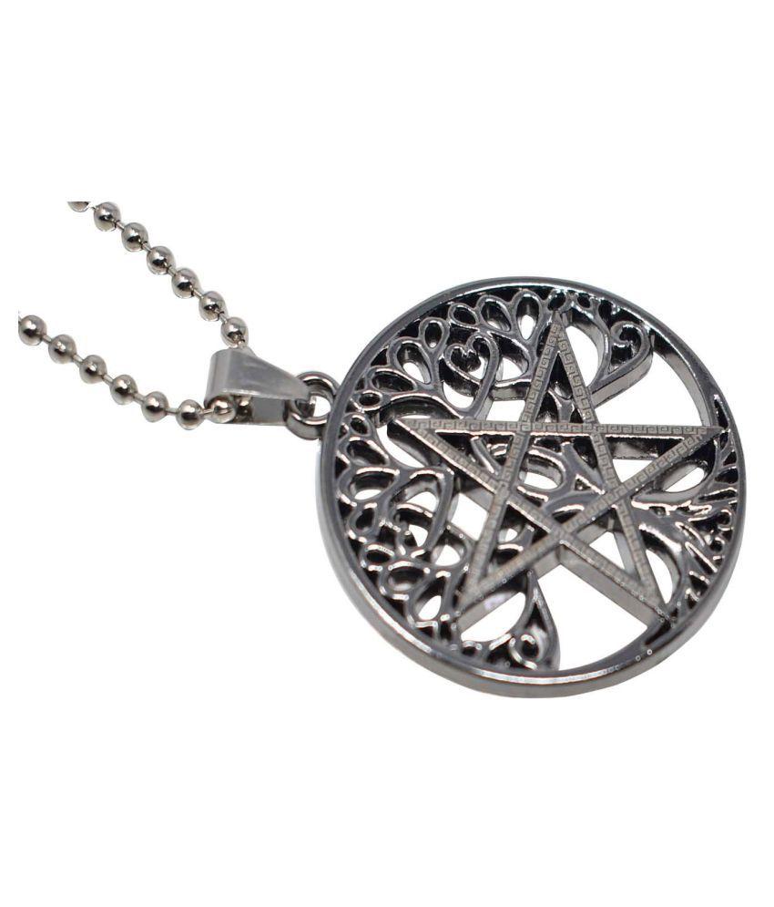 Jaishree jewels Silver Coated Star Design Round Pendant Jewelry