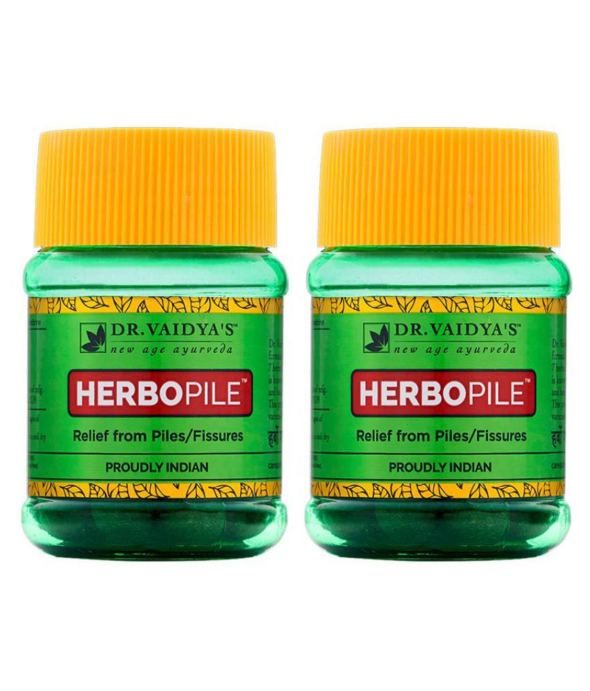 Dr Vaidyas's Herbopile - Treatment for Piles Capsule 60 no.s Pack Of 2