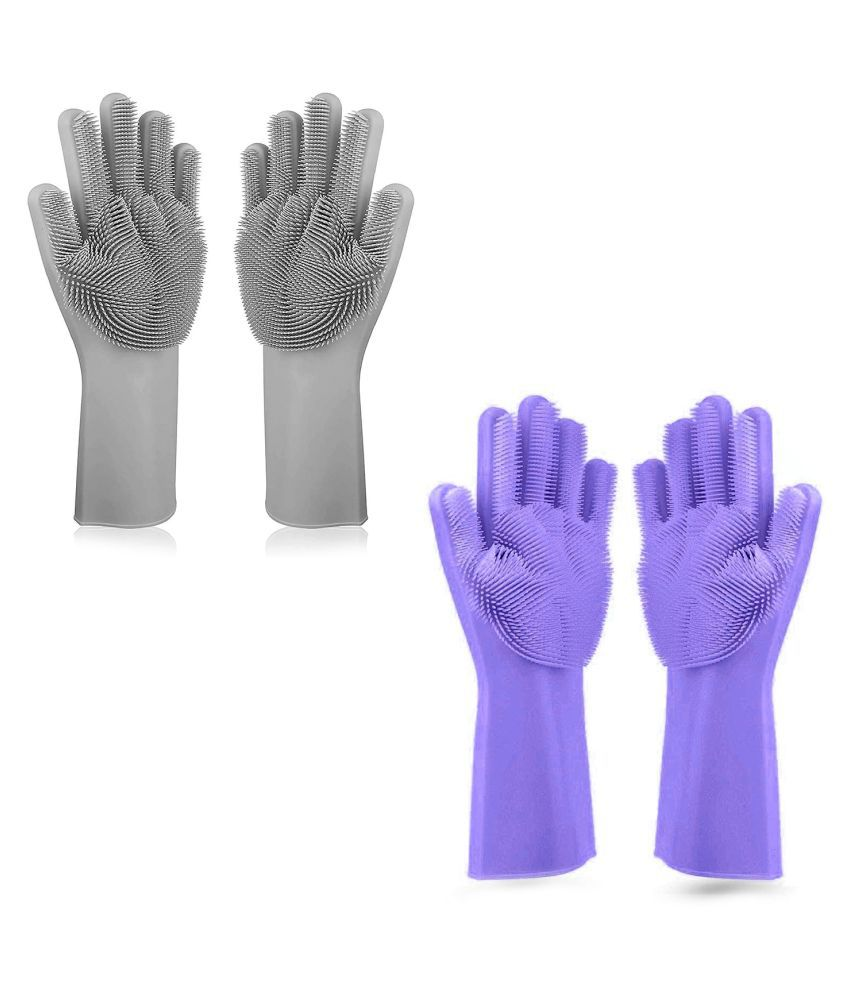 N M CREATION Polyester Large Cleaning Glove