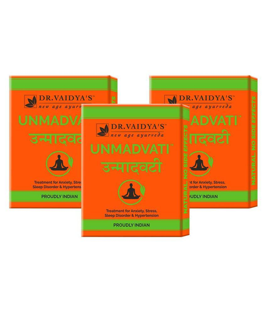 Dr Vaidyas Unmadvati - Relief from Stress Tablet 72 no.s Pack of 3