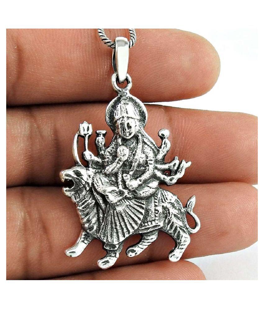 RATAN BAZAAR -Durga Mata Pandent/ (Locket)Without Chian  For Man &Woman  Unisex