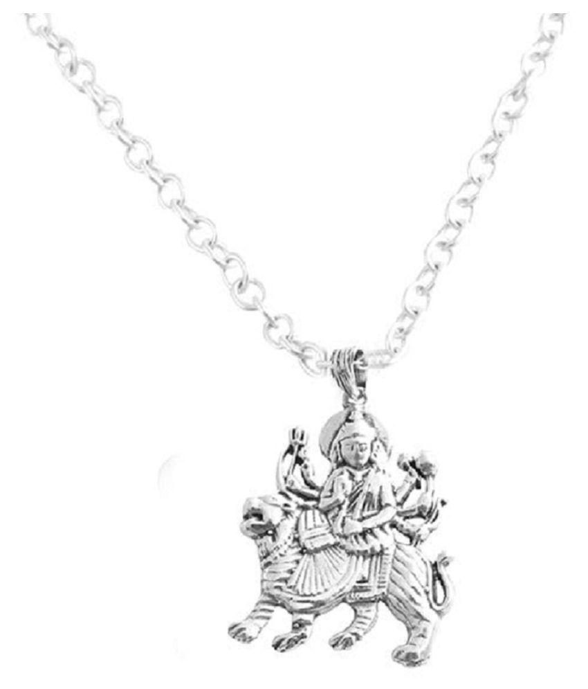 RATAN BAZAAR -Durga Mata Silver Pandent Without Chain (only Locket)