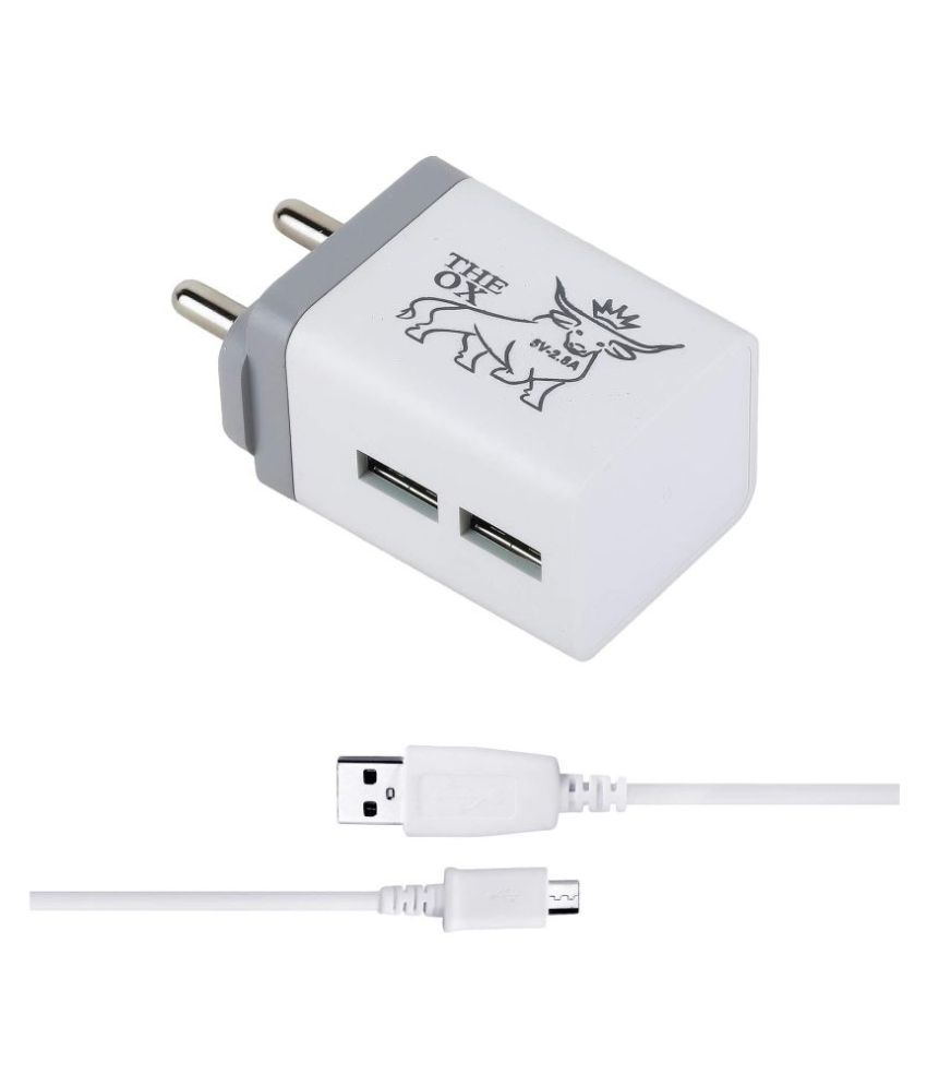 THE OX 2.8A Wall Charger