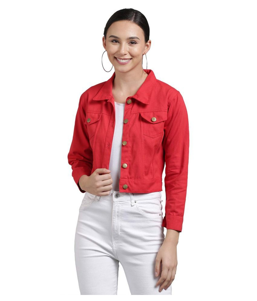 retrobella Cotton Blend Red Jackets
