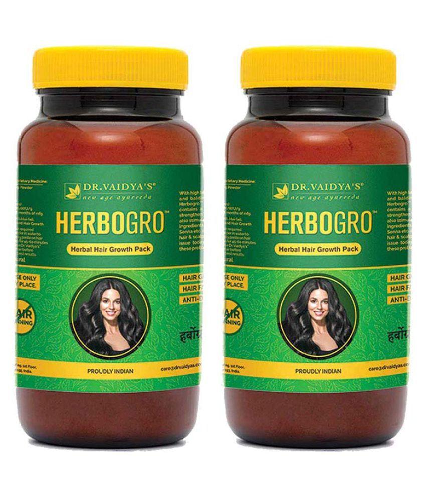 Dr Vaidyas Herbogro – Hair Growth Anti-Hairfall Hair Mask 300 g Pack of 2