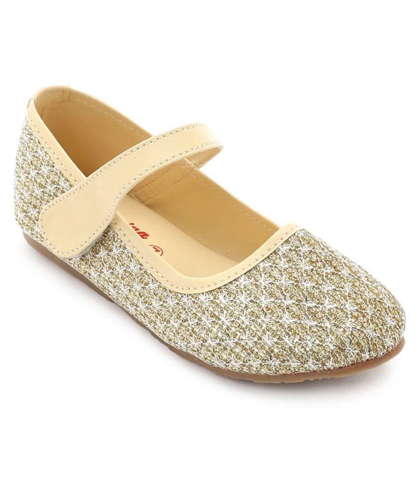 Spring Bunny - Baby Girl ' Lena ' Gold Shoes
