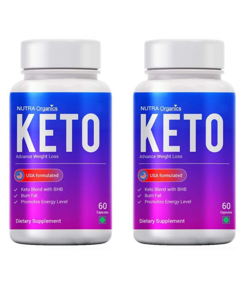 Nutra Organics Keto (Pack of 2) 500 mg Unflavoured Single Pack