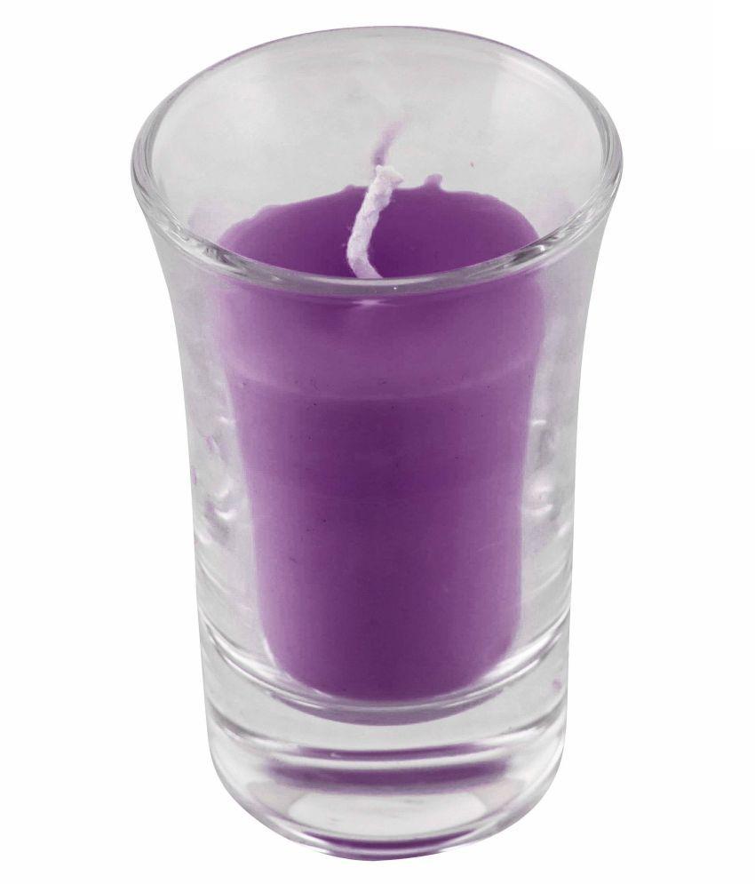 SOHUM CANDLE Purple Wax Tea Light - Pack of 6