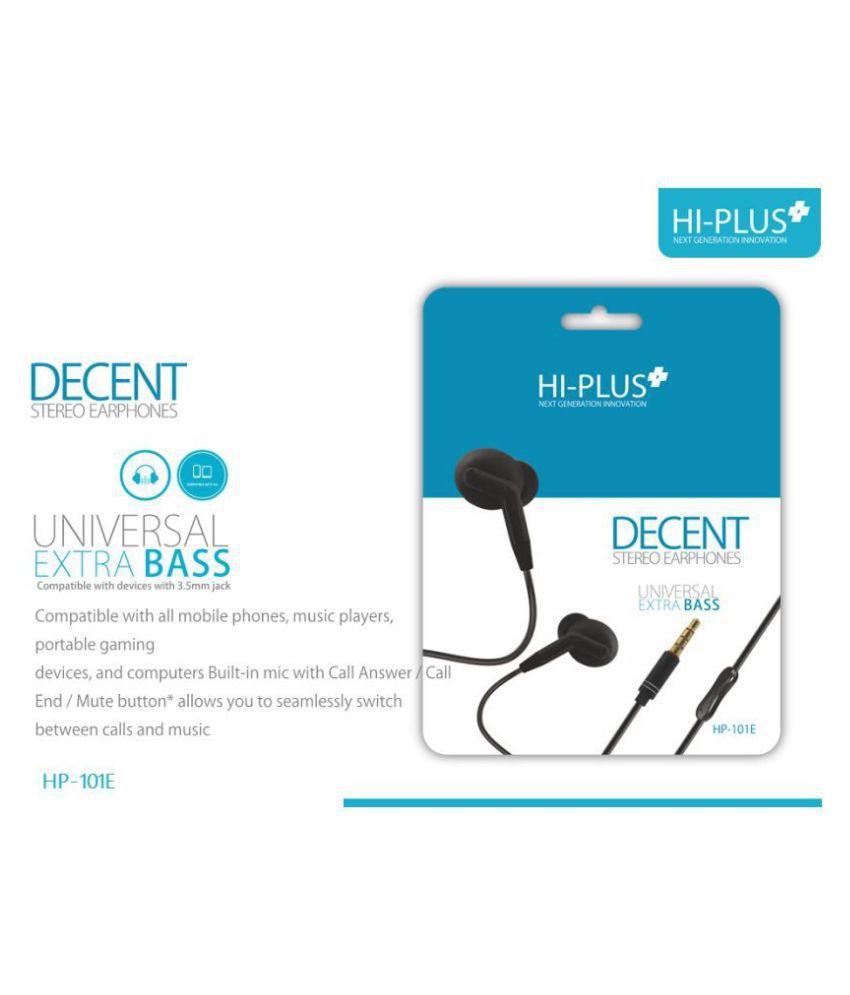 HI Plus na In Ear Wired With Mic Headphones/Earphones