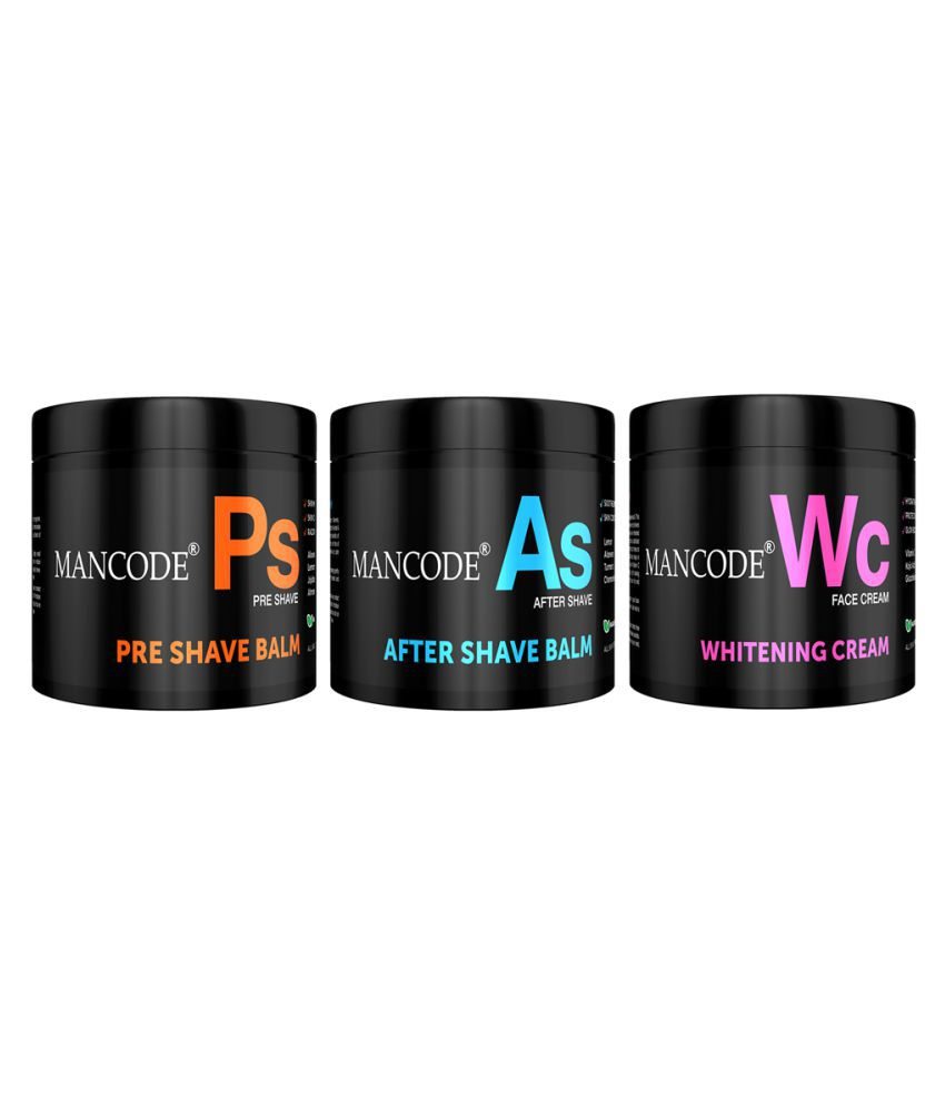 Mancode Preshave,Aftershave,Whitening Cream Facial Kit 300 g Pack of 3