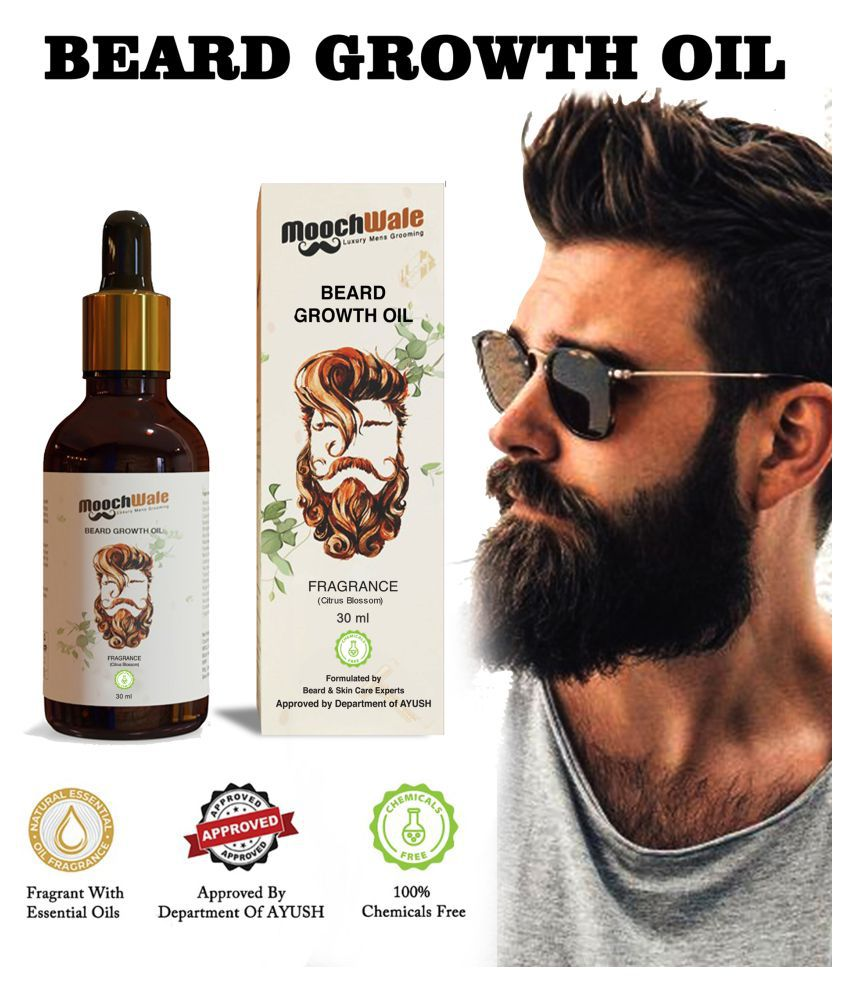 Moochwale Beard Oil for Growth 30 ml - Citrus Blossom