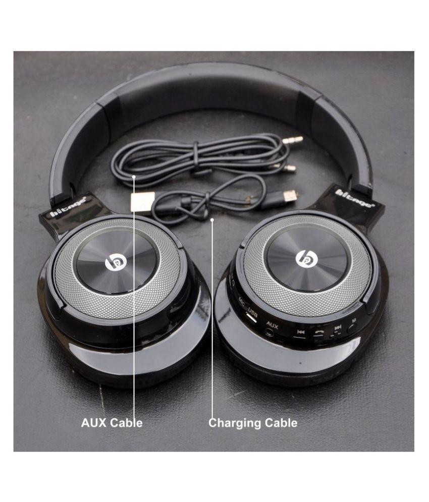 HITAGE BTH 768 Bluetooth Headphone Bhavi Vivo Compatible Extreme Pure HD Hyrbid Ear Buds Wired With Mic Headphones/Earphones