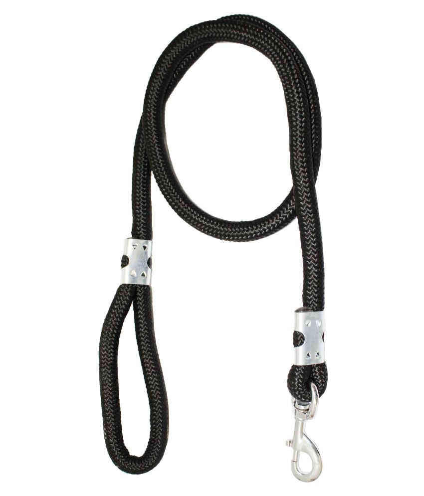 Petshop7 Premium Quality Strong & Durable Dog Leash Rope 18mm Black - (Length 58inch)