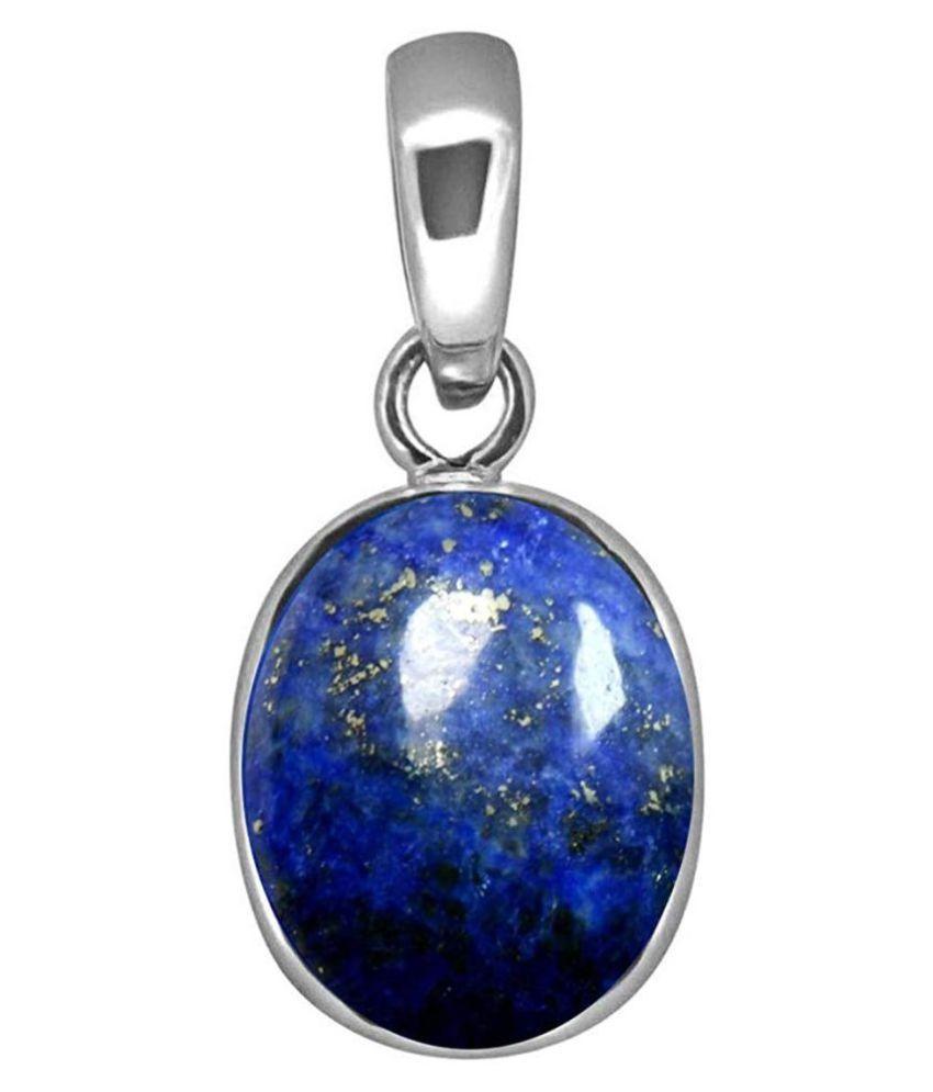 lapis lazuli  Pendant  2 Ratti 100% Original Silver lapis lazuli blue Stone by  Kundli Gems