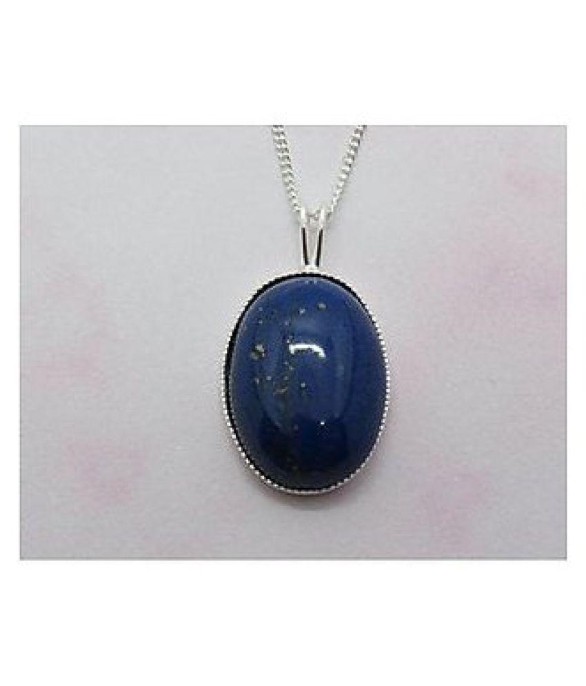 lapis lazuli Pendantin 5 carat sterling silver by  Kundli Gems