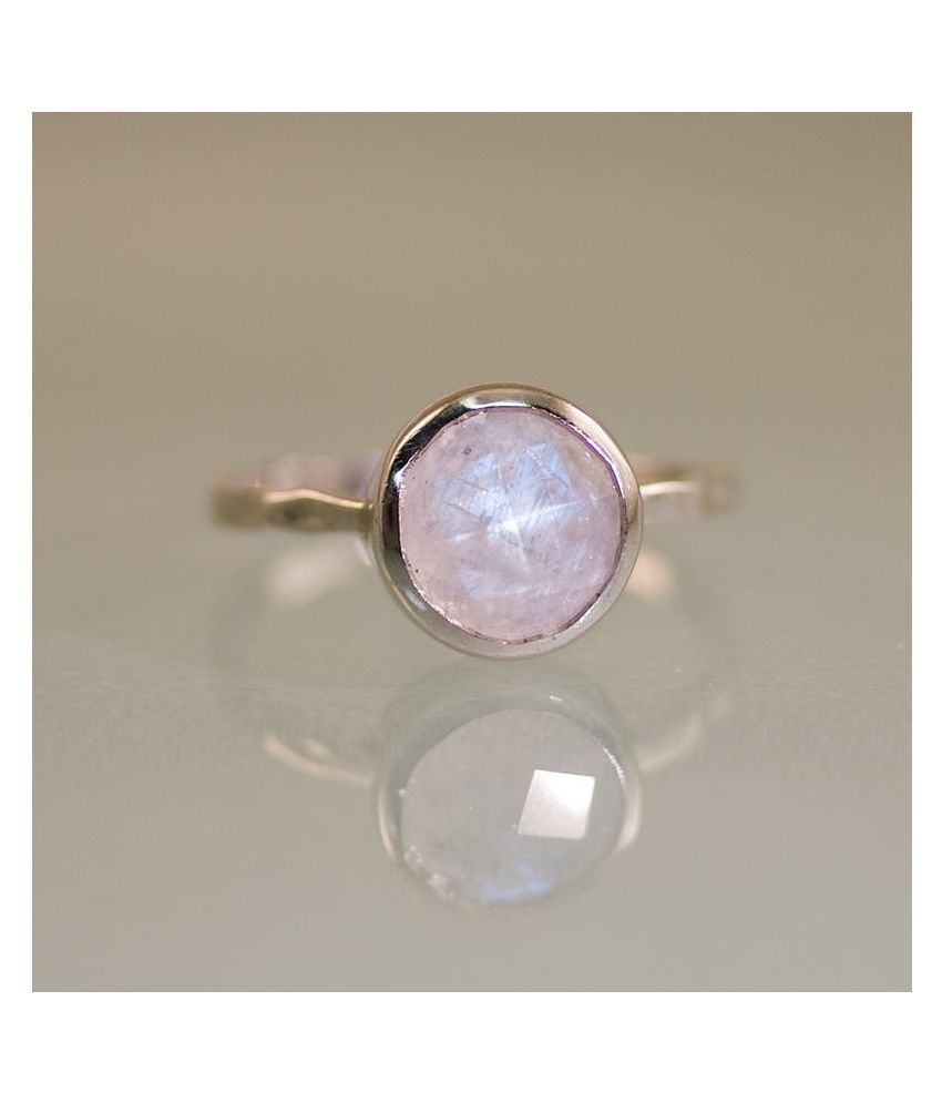 100 % Natural MOONSTONE Gemstone Stone 7.5 Carat Gold Plated Ring by Ratan Bazaar