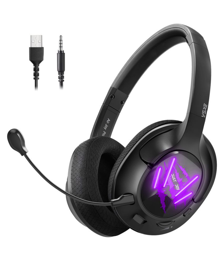 Eksa E3 Purple Over Ear Headset with Mic Purple