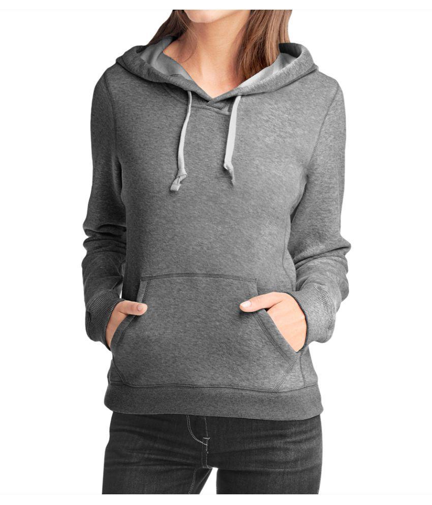 Teestra Cotton - Fleece Grey Hooded Sweatshirt