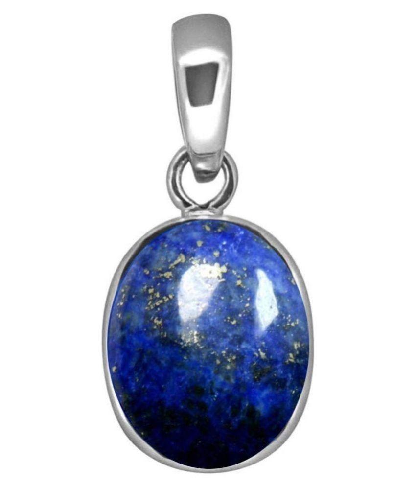 10 Ratti blue Silver lapis lazuli BLUE Stone Pendant by  Kundli Gems