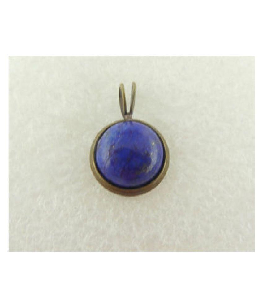 9 Ratti Natural IGI Lab Certified Lapis lazuli Stone gold plated Pendant By Kundli Gems