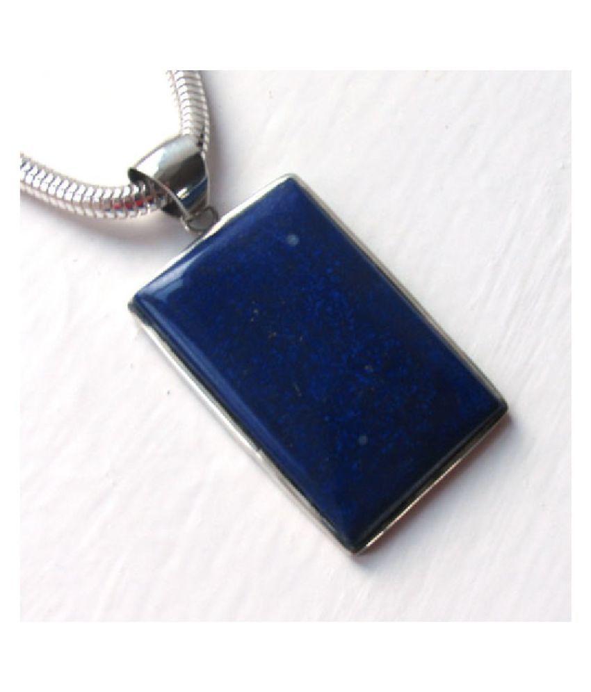 Pendant8 ratti Natural blue lapis lazuli stone silver Ringby Kundli Gems for unisex