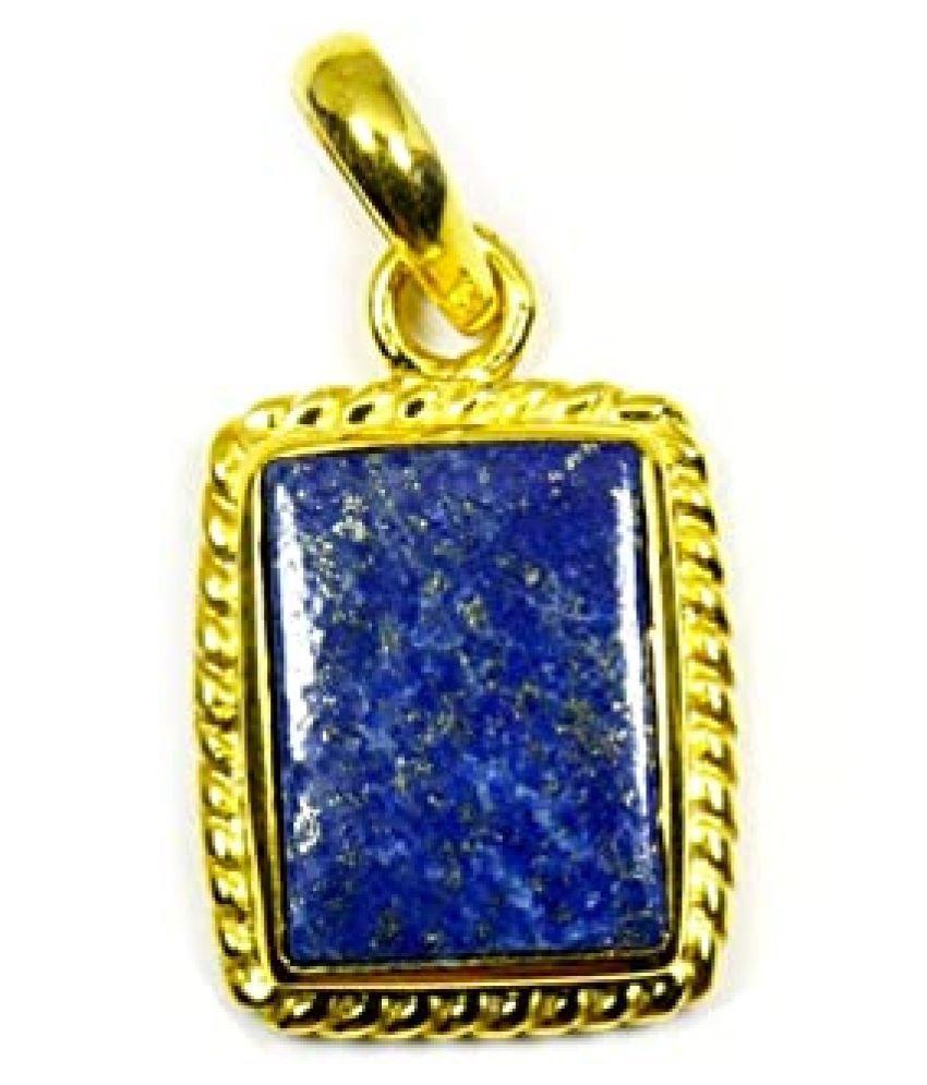 3.5 Ratti Lapis Lazuli asthdhaatu  Pendant for unisex gold plated Pendant by   Ratan Bazaar