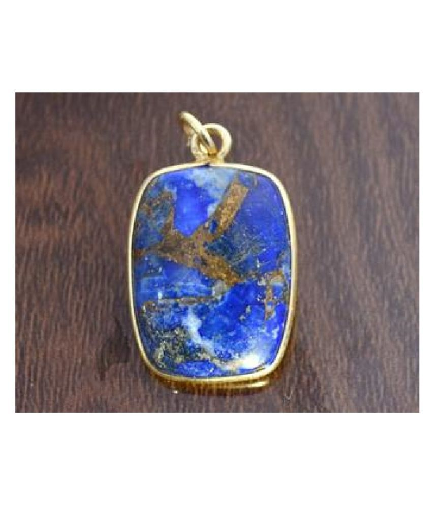 lapis lazuli Panchdhatu  2.25 Carat  gold plated Pendant By  Ratan Bazaar