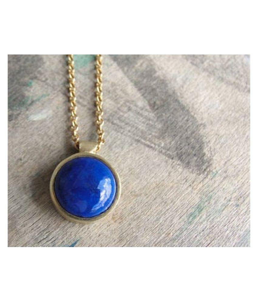 lapis lazuli Pendant2.25 Carat natural and Gemstone gold plated Pendant by  Ratan Bazaar