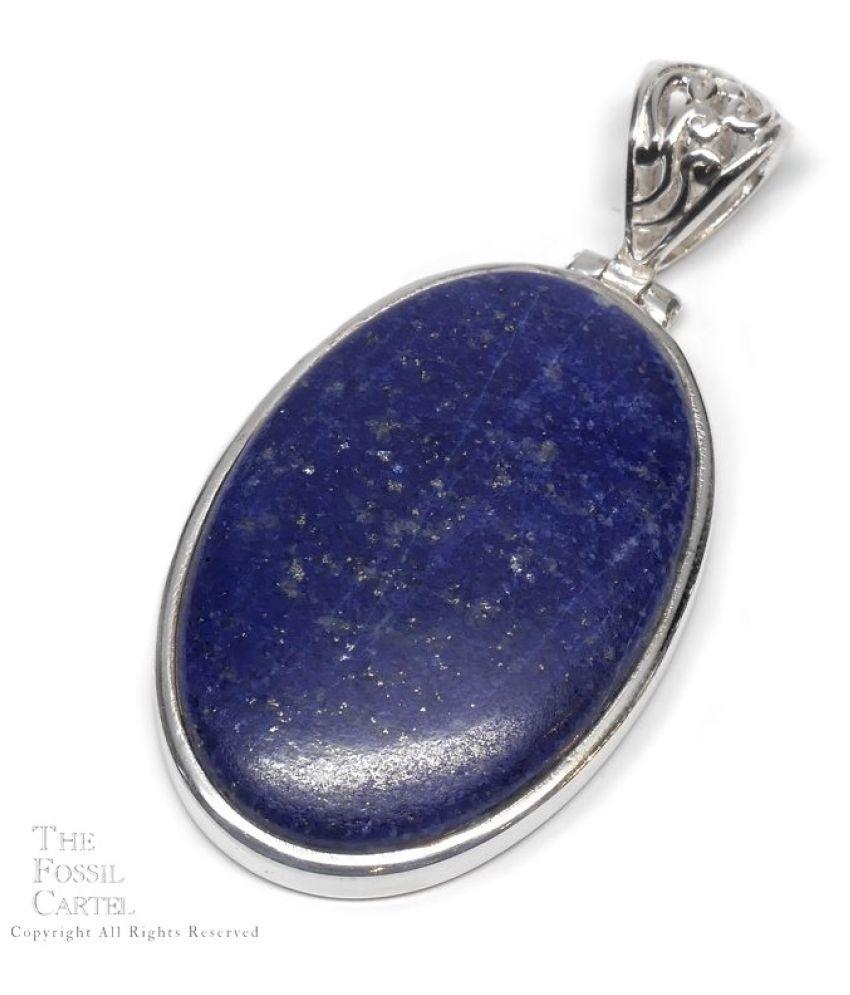 silver lapis lazuli  Pendant4.5 ratti by  Ratan Bazaar